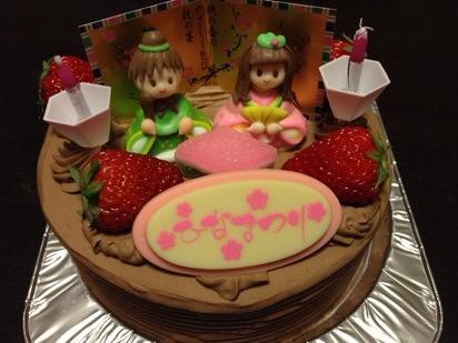 ジュエルのひな祭りケーキ